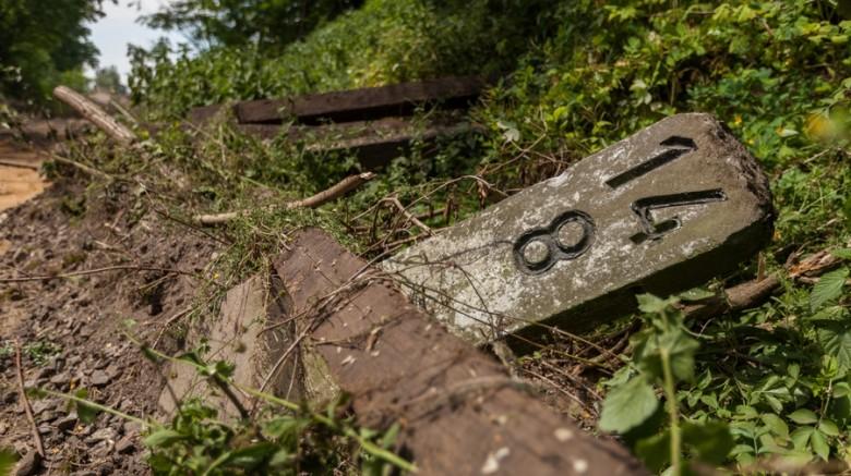 Pozostałości po linii kolejowej